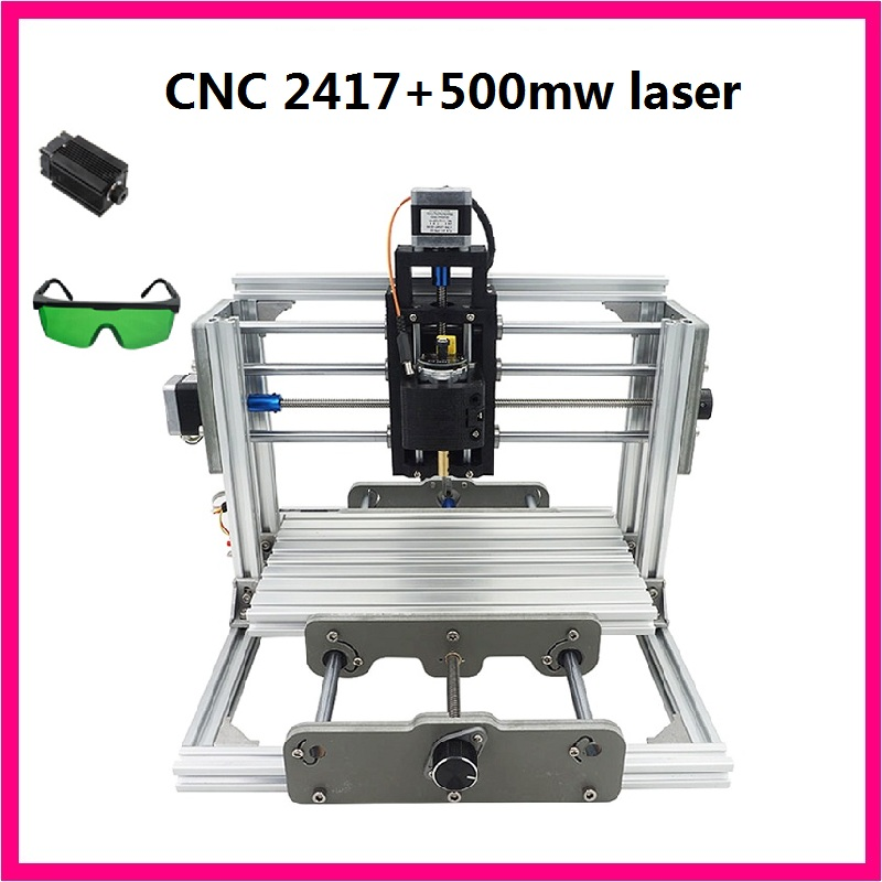 CNC 2417+500mw  laser grbl control diy cnc engraving machine,mini Pcb Pvc Milling Machine,Metal Wood Carving machine,cnc router cnc 1610 with er11 diy cnc engraving machine mini pcb milling machine wood carving machine cnc router cnc1610 best toys gifts