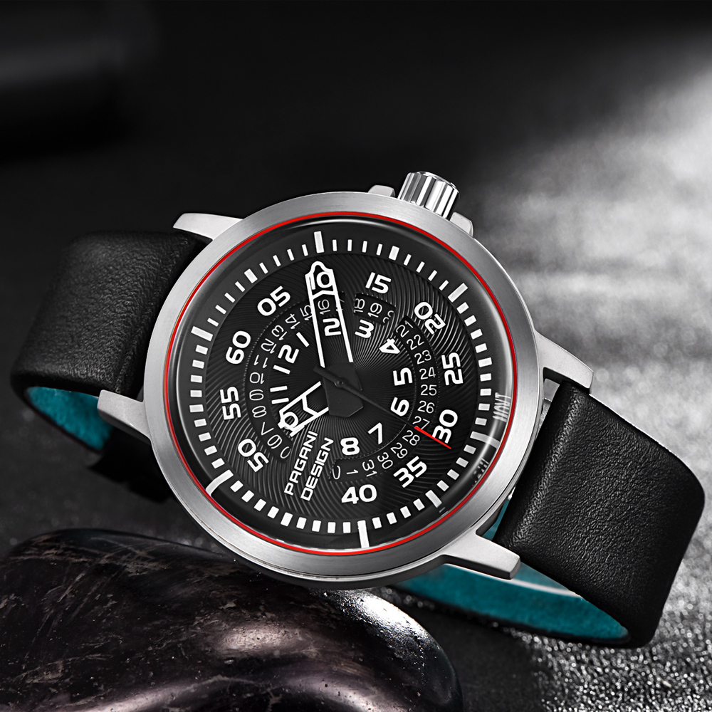 2017 Pagani Brand Men's Fashion Casual Sport Watches Men Waterproof Leather Quartz Watch Man Military Clock Relogio Masculino 2017 new top fashion time limited relogio masculino mans watches sale sport watch blacl waterproof case quartz man wristwatches