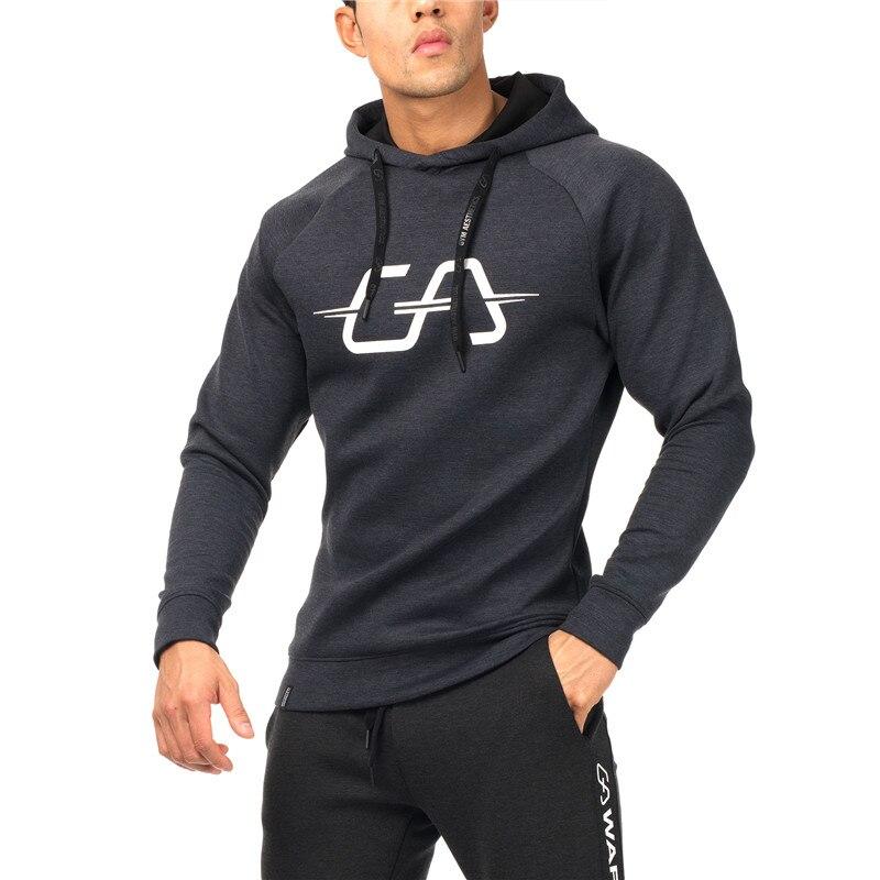 Brand Mens Sweatshirts Male Gyms Fitness Hoodies Fashion Bodybuilding Hooded Jacket Bottom Snapback Cotton Men Aesthetics Sweats