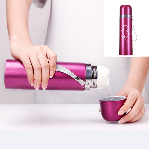 500ml Stainless Steel Water Bottle for Children, Thermal Flask Double Wall Insulated Thermal Water Bottle for Kids Outdoor Lahore