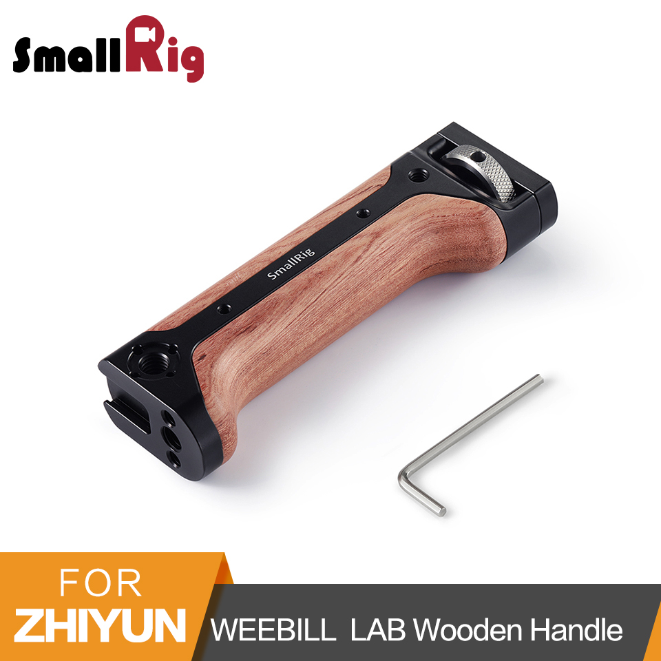SmallRig Wooden Handgrip for Zhiyun WEEBILL LAB and DSLR Camera Quick Release Wood Handle With Cold
