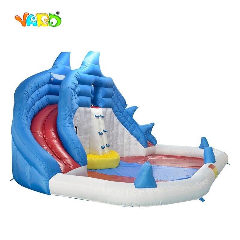 Corrediça de Água inflável Parque Aquático Inflável Com Blower Piscina Para Crianças Piscina Escorrega Para Crianças festa de Aniversário Da Criança Presente