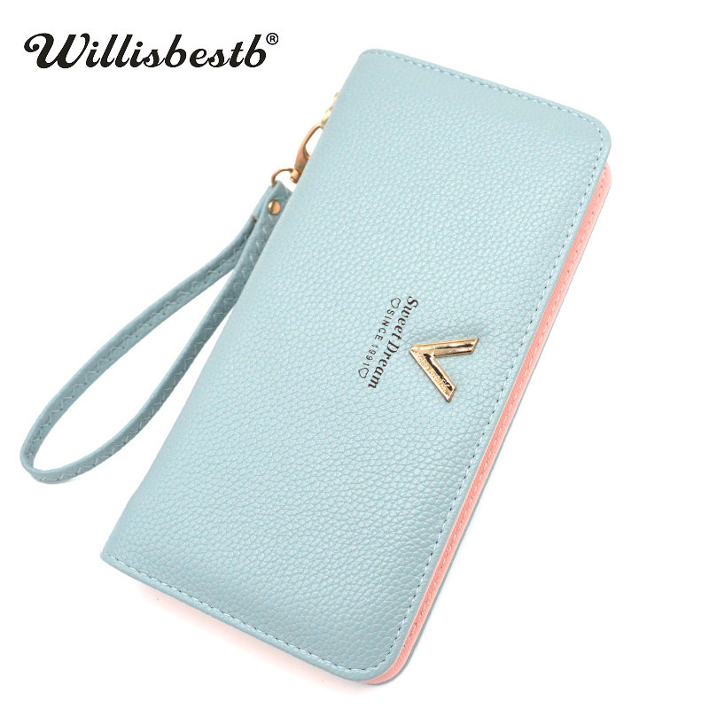 Long Zipper Ladies Purses Women Wallets Female 2018 New Brand Phone Pocket Ladies Purse Woman Wallet Clutch Leather Card Holder ...