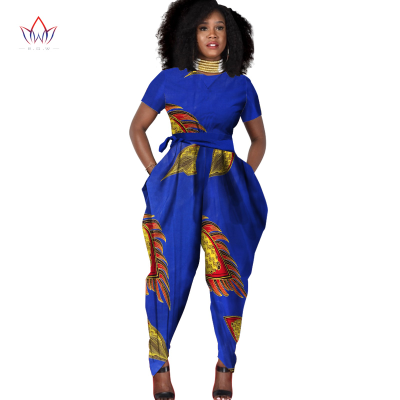 beautiful and cheap african women jumpersuit with print women african clothing dashiki pants trajes africanos plus size WY856