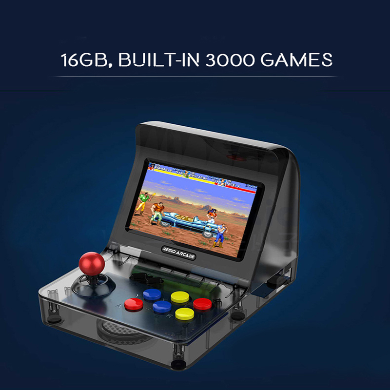 Portable Retro Game Boy Mini Handheld Game Console 4.3IN 64bit 3000 Video Game with RETRO ARCADE 08 Classical VideoGame Consola