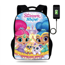 Cartoon Shimmer and Shine School Bags children backpacks For Teenagers girls Lightweight school bags orthopedics schoolbags new fashion school bags for teenagers candy waterproof children school backpacks schoolbags for girls and boys kid travel bags
