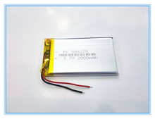 Free shipping 3.7 V tablet battery 2000 mah interphone 504270 GPS vehicle traveling data recorder