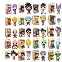Funko Pop Dragon Ball figuras de Super acción Goku Vegeta Zamasu niños regalo de Navidad muñeca de Dios Super Saiyan modelos juguetes para chico
