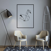 Nordic Geometric SWAN Wall Sticker Decal wallstickers house Decor For Baby Kids Room Decoration Wallpaper Home Mural