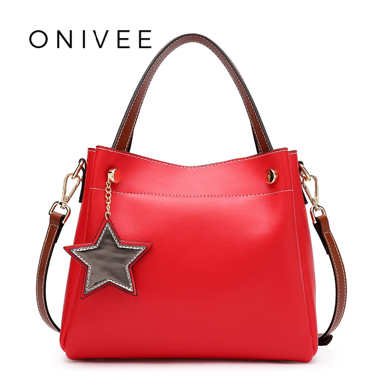 ONIVEE 2018 Fashion Genuine Leather Wristlets Girl Bag Schoudertas Dames With Star Women Bag #0941 0941 блузка