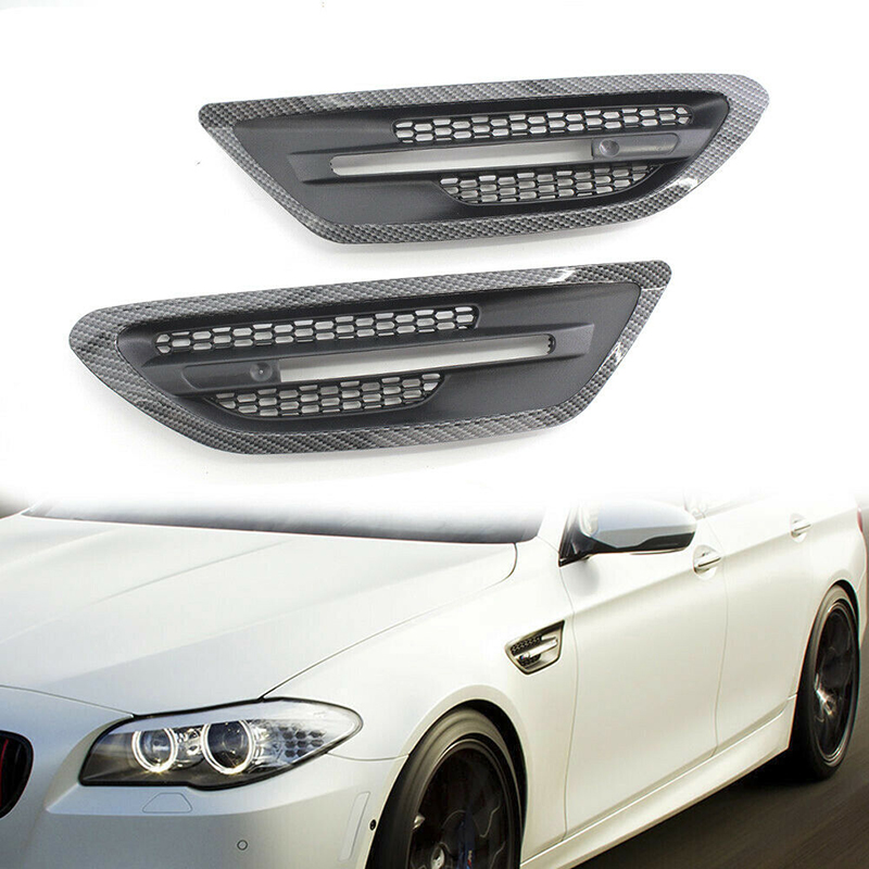 2pcs/set New Car Side ABS Air Flow Vent Fender Grille High Quality Accessory Part Suitable For BMW F10 / F11 / M5 Sedan 10-162pcs/set New Car Side ABS Air Flow Vent Fender Grille High Quality Accessory Part Suitable For BMW F10 / F11 / M5 Sedan 10-16