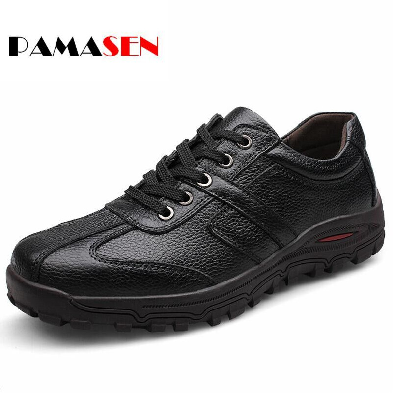 PAMASEN Fashion Handmade 100% Genuine leather men Flats,Soft leather men Male Moccasins,High Quality Brand Men Shoes Size 38-48 top brand high quality genuine leather casual men shoes cow suede comfortable loafers soft breathable shoes men flats warm