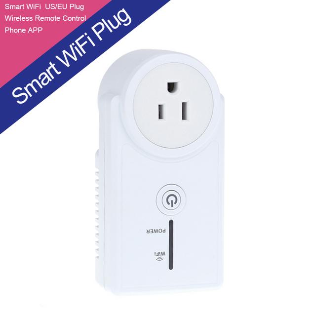 2015 Nuevo EE.UU. inteligente wifi enchufe ua/ue adaptador eléctrico control remoto inalámbrico de su conmutador mediante la aplicación de forma gratuita gratis