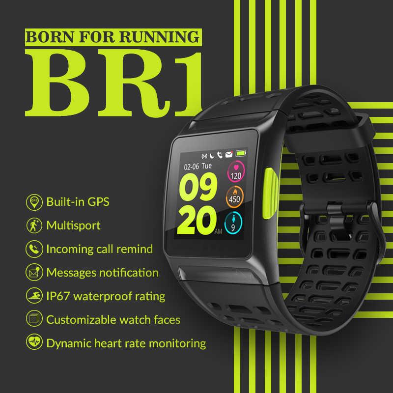 """Makibes BR1 GPS reloj inteligente Bluetooth Strava HRV + ECG IP67 impermeable 1,3 """"IPS pantalla a Color 17 tipos deportes reloj de los hombres"""