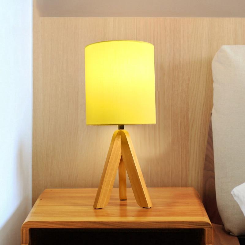 JAXLONG Modern Wood Table Lamp Loft Decor Art Living Room Coffee Desk Lamp Bedroom LED Hotel Hall Table Dining Room Reading Room