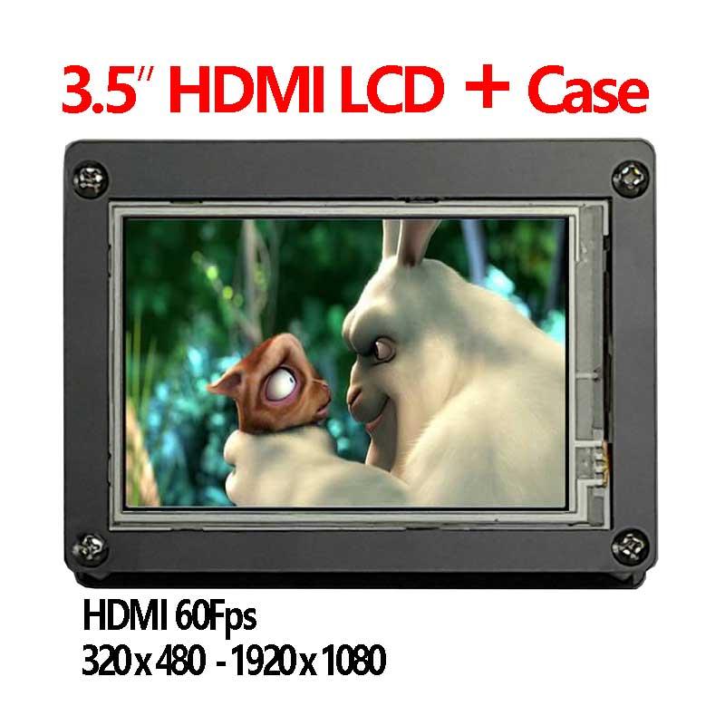 Raspberry Pi 3.5 inch IPS HDMI LCD touchscreen 3.5inch display 1920x1080 Case