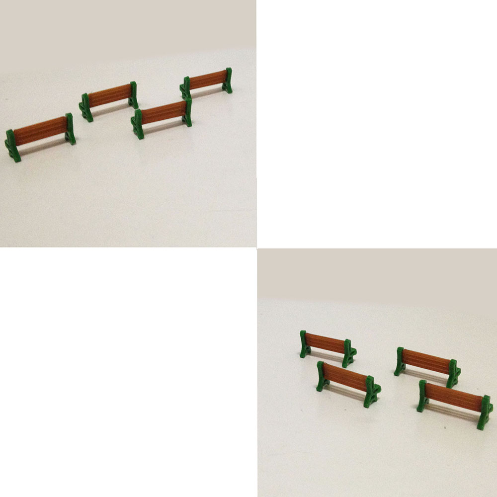 HO 1 87 Scale Park Street Seats Bench Chair Courtyard Chairs Railway Modeling in Model Building Kits from Toys Hobbies