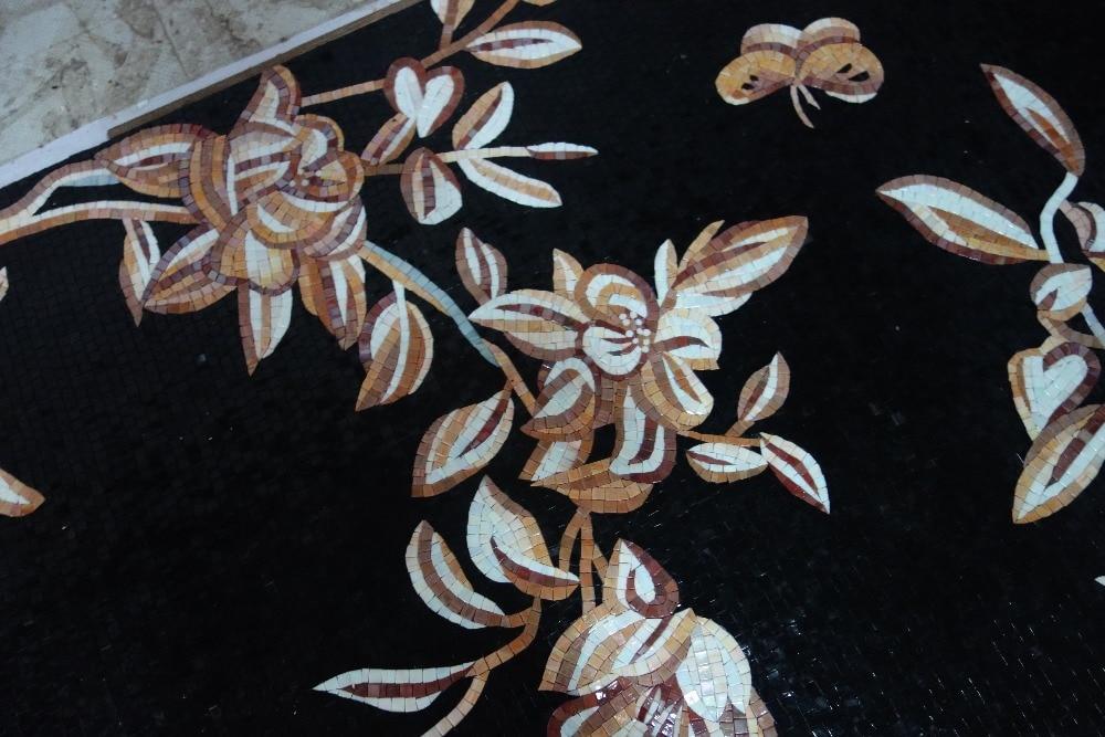 mural de parede completo de obras de arte em mosaico de vidro feito - Decoração de casa - Foto 4