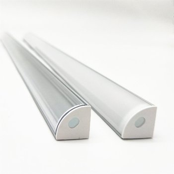 1-10pcs 50cm led bar light housing V shape Triangle aluminum profile mikly/clear cover connector Clip channel for 10mm PCB strip 1