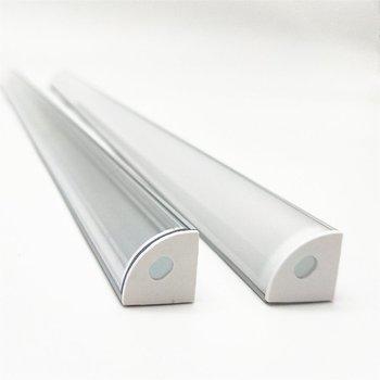 1-10 قطع 50 سنتيمتر بقيادة بار ضوء الإسكان v الشكل المثلث الألومنيوم الشخصي mikly / واضح غطاء موصل كليب قناة ل 10 ملليمتر pcb قطاع 1