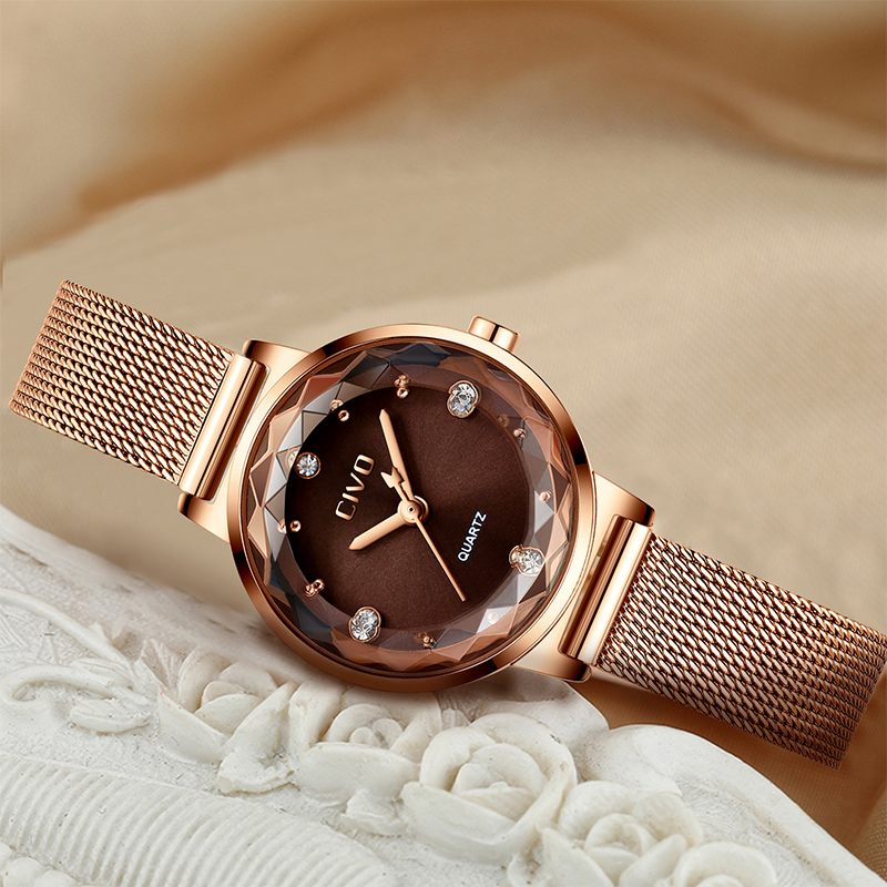 Watch, Mesh, Brand, Luxury, Reloj, Waterproof