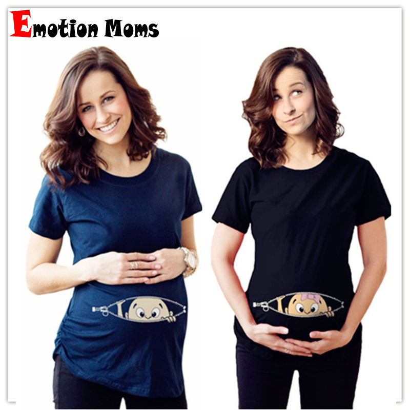 Summer Maternity Top Pregnancy T Shirt Women Cartoon Tee Baby Print Pregnant Clothes Funny T-shirt Plus Size M-3XL
