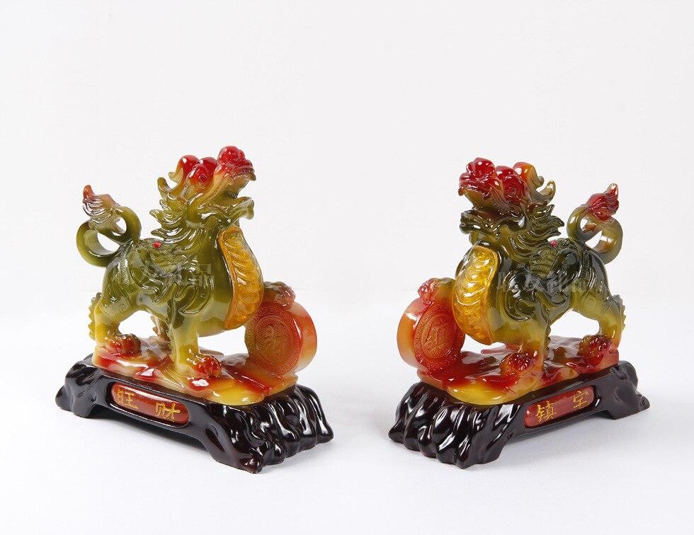 Cai/maison de ville, résine imitation jade cadeaux ornements ménagers, verre, agate. Feng Shui cent.