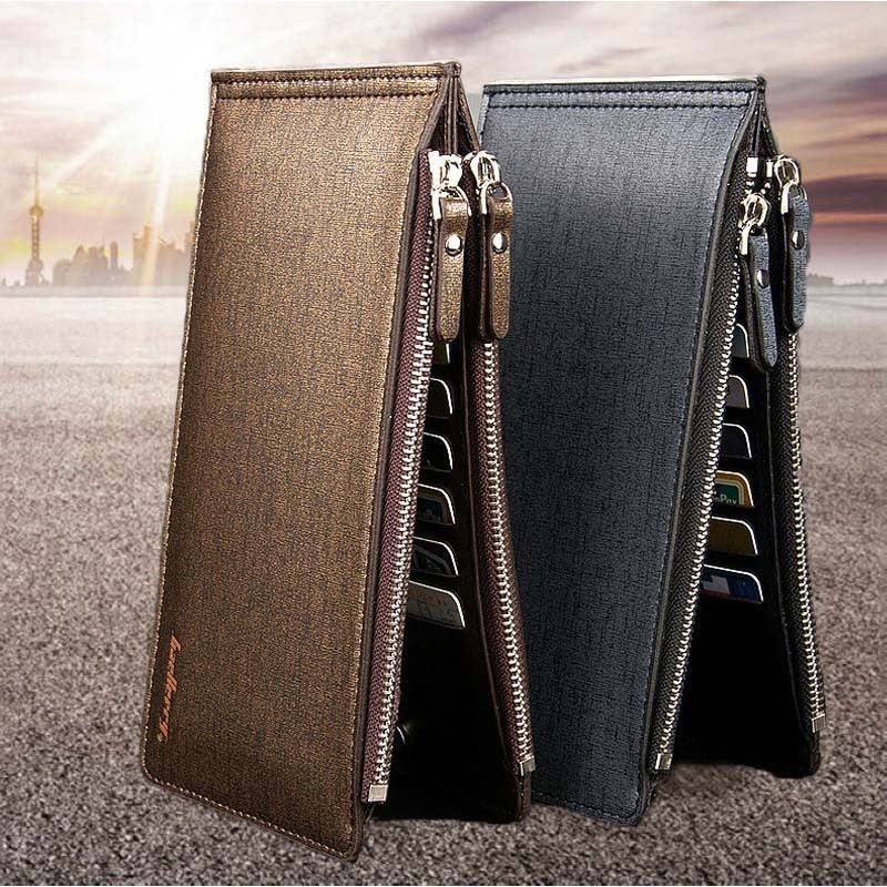 2019 Men's Wallet Leather Credit Card Holder RFID Blocking Zipper Pocket New