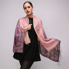 2018 Newest Luxury Brand Women Scarf Winter Fashion Design Letter Print Silk Cashmere Scarf Warm Knitting Shawls Ladies Scarves(China)