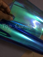 30cmx10m Roll Light Blue Chameleon Headlight Tint Film Car Taillight Fog Vinyl PROTWRAPS NEO CHROME Headlamp Tinting