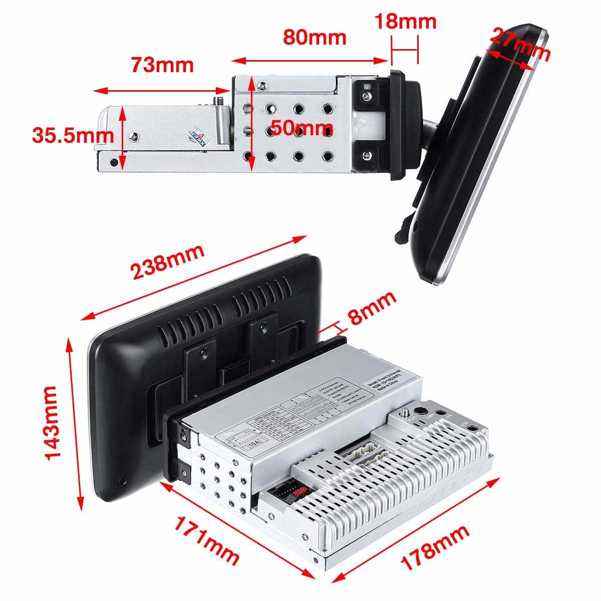 Jogador giratório dos multimédios do carro 16/32g 8 estéreo do núcleo para o andróide 8.0/8.1 com 360 graus acima para baixo da tela jogador de rádio de gps wifi
