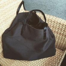 Anawishare bolsa de lona feminina, bolsa de ombro grande para meninas, sacola de compras preta de alta qualidade
