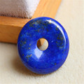 Fashion Jewelry Pendant Bless You Women Lady Necklace Round Crystal Beads Blue Golden Lapis Lazuli Natural Stone Pendant