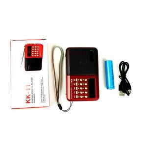 Image 4 - Mini Cầm tay Cầm Tay Kỹ Thuật Số FM USB TF MP3 Người Chơi Loa Sạc Điện