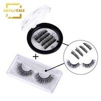 Shine Tale 3D Mink Eyelashes 100% Real Mink Strip Eyelashes Handmade Crossing Mink Eye Lashes Extension CI001+D02