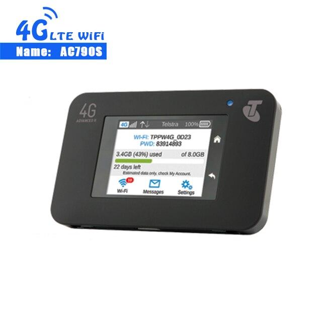 Разблокирована HUAWEI AC790S Cat6 300 Мбит/с 4G Wi-Fi роутера ключ радио AirCard 790 S 4G LTE мобильную точку доступа + 2 шт. 4G антенны