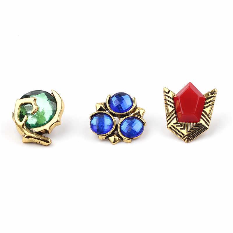 2019 Legenda Zelda Bros Pin Bros Perunggu Kuno Kristal Broche Fashion Kerah Pin Perhiasan Pria Wanita Brocade Femme Bijoux