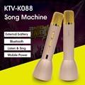 K088 Игрок Караоке Микрофон Bluetooth Динамик Беспроводной 4.1 Открытый КТВ Пение Запись power bank Для Android IOS против K068 Q7