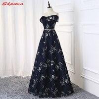 Marineblau Lange Abendkleider Partei Eine Linie Schöne Frauen Prom Elegante Formale Abendkleider Kleider Auf Verkauf abendkleider