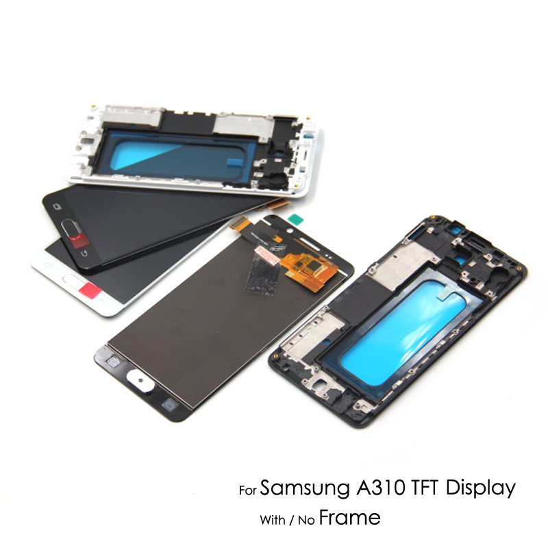 Super AMOLED/TFT For Samsung Galaxy A3 2016 A310 A310F SM A310F LCD Display OLED Touch Screen Digitizer Assembly Adjust Bright
