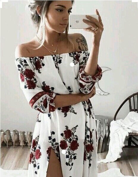 Women Ladies Clothing Dress Chiffon Floral Long Sleeve Party Flower Casual Long Maxi Dresses Women Summer Women Ladies Clothing Dress Chiffon Floral Long Sleeve Party Flower Casual Long Maxi Dresses Women Summer Sundress