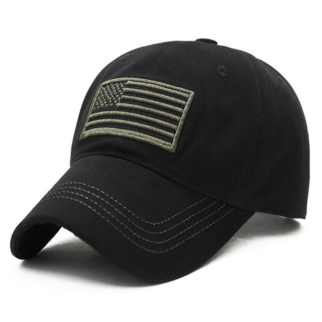 US $4 24 15% OFF|New Men USA Flag Camouflage Baseball Cap Army Embroidery  Cotton Tactical Snapback Dad Hat Male Summer Sports America Trucker Cap-in