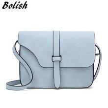 Bolish Nubuck Leather Women Bag Fashion Single Strap Crossbody