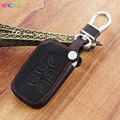 Leather Car Styling Key Cover Case For Range Rover Sport Evoque Freelander 2 Discovery 2 3 4 Jaguar XF A8 A9 X8 Auto Accessories