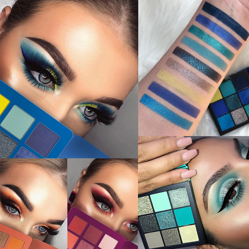kadalado Waterproof Eyes Makeup Glitter Eyeshadow Palette Red Matte Shiny Pigment Eye Shadow for Women Beauty Cosmetics Set
