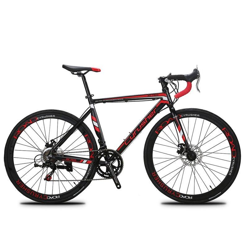 Cyrusher XC760 vélo de route 700C * 52 cm cadre en alliage d'aluminium vélo 14 vitesses course vélo de route Double frein à disque