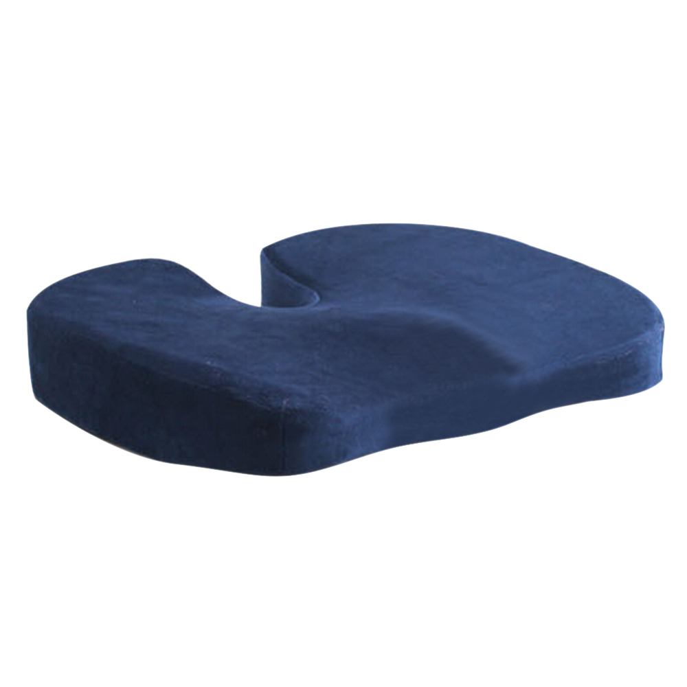 navy blue traveling coccyx orthopedic memory foam seat cushion for chair car office home bottom. Black Bedroom Furniture Sets. Home Design Ideas