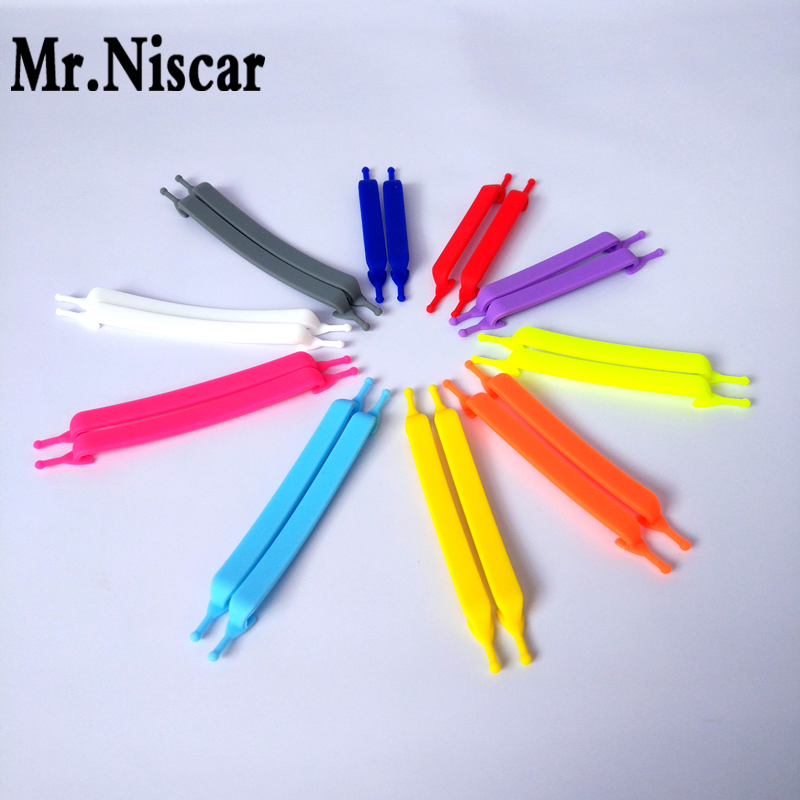 Mr.Niscar 1Set / 20Pcs No Tie Silicone Shoe Laces Creative Shoelaces Unisexi jooksvale elastsele silikoonist kingapitsile