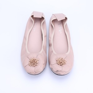 Image 5 - Genuine Leather Women Ballet Flats Spring Autumn Brand Lady Sneakers Flower Adornment Round Head Casual Shoes Female Loafers2021