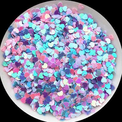 20g Campuran Putih Biru Merah Muda Ungu 1-6mm Multi Bintang Hati bulan dot longgar Sequin Paillettes untuk Nail Art/dekorasi pernikahan confetti